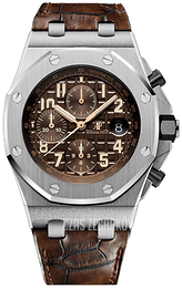 Audemars Piguet Royal Oak Offshore Brązowy/Skóra Ø42 mm 26470ST.OO.A820CR.01