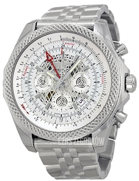Breitling for Bentley B04 GMT Srebrny/Stal Ø49 mm AB043112-G774-990A