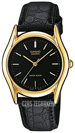 Casio Casio Collection Czarny/Skóra Ø39 mm MTP-1154PQ-1AEF