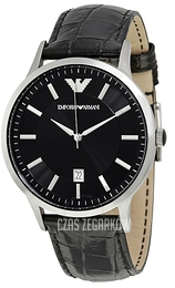 Emporio Armani Dress Czarny/Skóra Ø43 mm AR2411