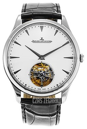 Jaeger LeCoultre Master Ultra Thin Tourbillon White Gold Srebrny/Skóra Ø40 mm 1323420