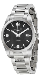 Longines Conquest Czarny/Stal Ø40 mm L2.785.4.56.6