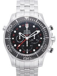 Omega Seamaster Diver 300m Co-Axial GMT Chronograph 44mm Czarny/Stal Ø44 mm 212.30.44.52.01.001