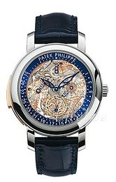 Patek Philippe Grand Complications Szkieletowa tarczy/Skóra Ø43 mm 5104P/001