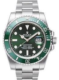 Rolex Submariner Zielony/Stal Ø40 mm 116610LV-0002