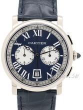 Cartier Rotonde de Cartier Niebieski/Skóra Ø40 mm