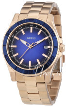 Guess Mini Niebieski/Stal w kolorze różowego złota Ø36 mm
