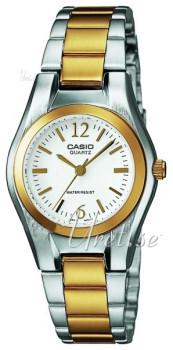 Casio Casio Collection Biały/Stal w odcieniu złota Ø25 mm