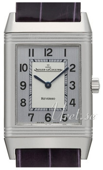 Jaeger LeCoultre Reverso Classique Stainless Steel Srebrny/Skóra