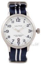 Nautica Dress Biały/Stal Ø42 mm