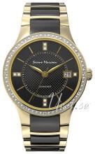 Serene Marceau Diamond Louvre Czarny/Stal w odcieniu złota Ø28 mm